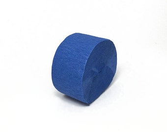 Royal Blue Crepe Paper Streamer Roll - 81 Feet Long - Paper Craft Party Supplies