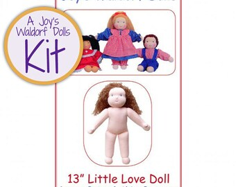 "Joy's Waldorf Dolls 13"" Little Love Waldorf Doll Making Kit"