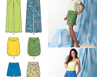 SKIRT/PANTS/SHORTS Pattern by Simplicity Easy to Sew*Size Misses' 4-12
