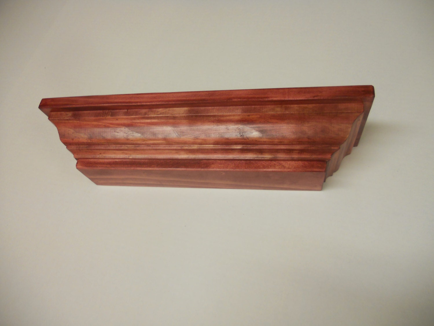 Pine cabernet finish 18 inch crown molding by lonestarwood for 9 inch crown molding
