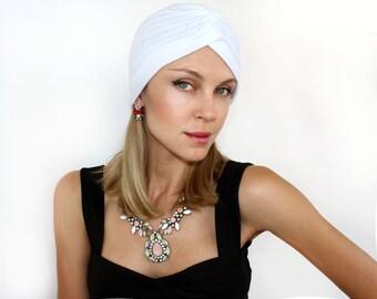Women's Fashion Turban Head Wrap in White