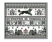 "Game of Thrones ""Stark Sampler"" Chart/Pattern for Cross Stitch"