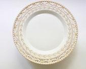 Art Deco KPM Porcelain Footed Platter Luncheon Dessert Tray Raised Gold Gilt  Reticulated Pierced Borders