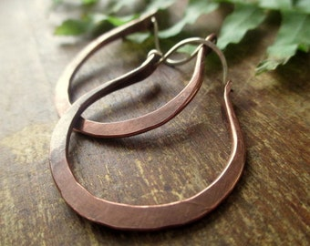 Rustic Copper Hoops