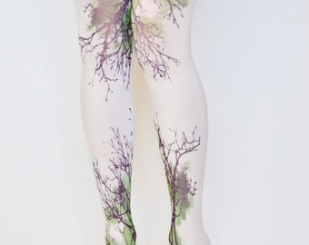 Trees Design  Printed Tights