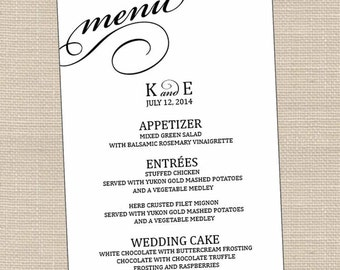 Popular Items For Rustic Menu Card On Etsy