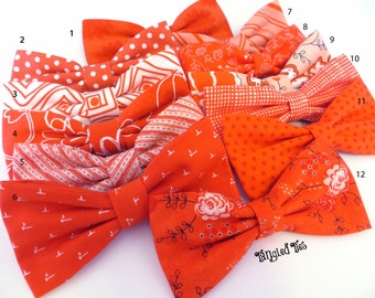 Tango Bow Tie Tangerine Bow Tie Wedding Bow Tie Mix and Match Bow Ties