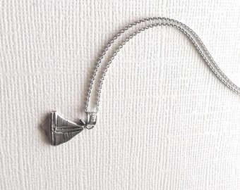 Sailboat Pendant Necklace in Sterling Silver, Sailing Ship Jewelry