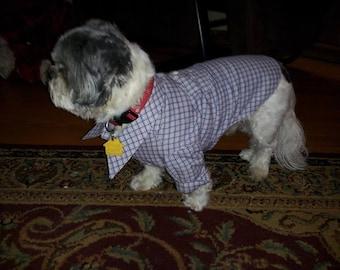 Custom Handmade Doggie Dress Shirt w/Pocket
