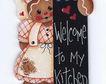 Welcome to My Kitchen Gingerbread Painting E-Pattern