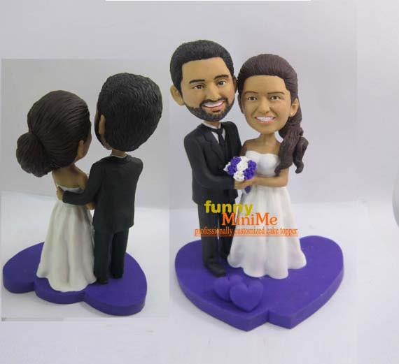 bobblehead wedding cake toppers personalized cake topper wedding cake topper bobblehead custom cake topper 12068