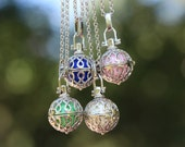 Necklace, Angel caller necklace, harmony ball necklace, infinity bell ball , Mexican bola pendant, musical ball pendant, Christmas gift!