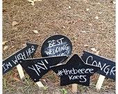 Photo Booth Chalkboard Prop Signs for Wedding Set of 5