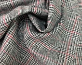 Plaid Wool Blend Fabric (by the yard)
