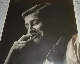 "Old Photograph 11"" x 14"" Black and White Portrait  Mel Torme Jazz Singer called the velvet fog"