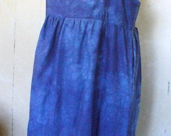 Brilliant Blue Goddess Hemp Maxi Jumper plus size fits 2X - 4X