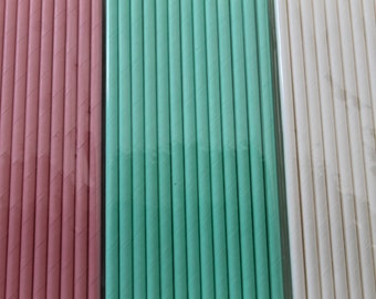 25 Solid Color Paper Straws / Paper Party Wedding Straws / Birthdays / Shower Decor / Wedding Supplies / Party Supplies