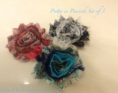 Shabby Chic Hair Clip Set of 3