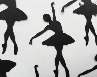Ballerina Silhouette Die Cuts Set of 12