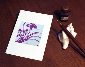 Greeting Card: Japan Modern - kakitsubata, iris -