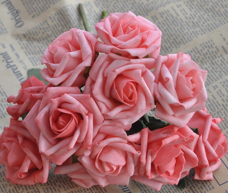 Coral And Pink Wedding Flowers: Artificial Flowers Coral Pink Wedding Flowers Supplies Fake