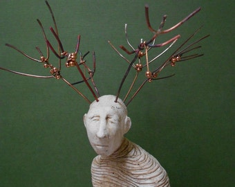 Nourish is a One of a Kind Handmade Stoneware Sculpture