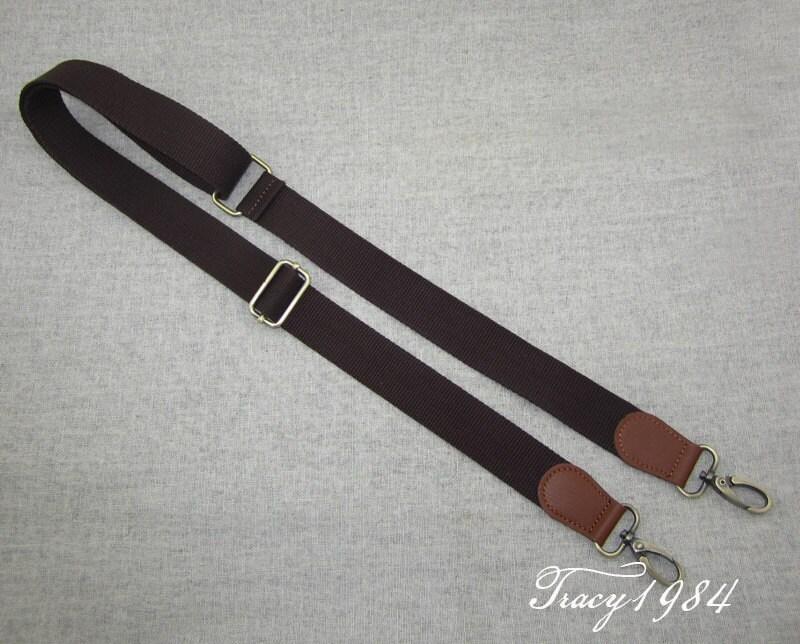 137cm or 54 inches long canvas shoulder bag strap in chocolate. Black Bedroom Furniture Sets. Home Design Ideas