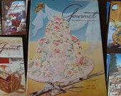 Gourmet Magazine 1954- A complete year of recipes - 12 issues Vintage Cooking Magazines