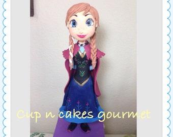 Anna  (Frozen) cake topper