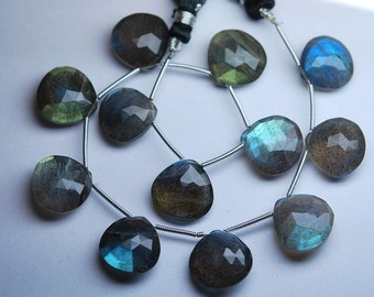 3 Matched Pair,6 Pieces,Finest Quality,Labradorite Faceted Heart Shape,14mm Size