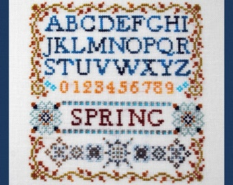 Mini Spring Sampler! Counted Cross Stitch Chart. Ornamental. Alphabet. Letters. Initials. Monogram. Sampler. X Stitch. DIY. Direct Checkout.
