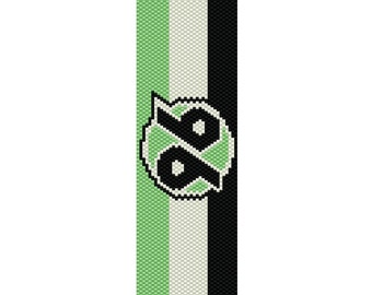 Hannover 96 Peyote Cuff Bracelet Pattern