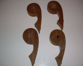 Vintage solid walnut wood decorative pieces from Amana Colonies