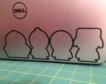 South Park Characters Silhouette Outline Vinyl Decal (2 Pack)