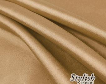 "60"" Mocha Charmeuse Satin Fabric by the Yard, Charmeuse Fabrics, Charmeuse Satin, Bridal Wedding Satin Fabric- 1 Yard Style 2800"
