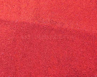 Swimwear Fabric Red/Red Fog Foil Tricot Knit Fabric for Swimwear Activewear Dancer apparel and Sportswear - 1 Yard Style 7002