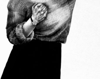 ROBERT LONGO Men In The Cities Print Business Woman Black and White Art Women in Business Skirt Set Blonde Employee