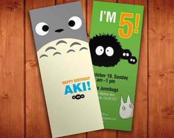 Printable PDF - Totoro Invitation for a Totoro Party!