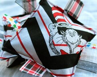 Dr Seuss Cat in the Hat Chevron Bean Bags