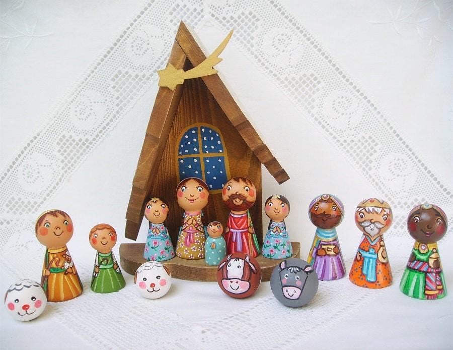 DIY nativity set Christmas kids gift Childrens by ...