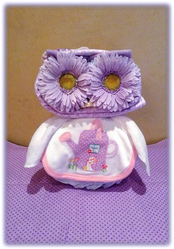 purple owl diaper cake owl baby shower diaper animal owl diaper