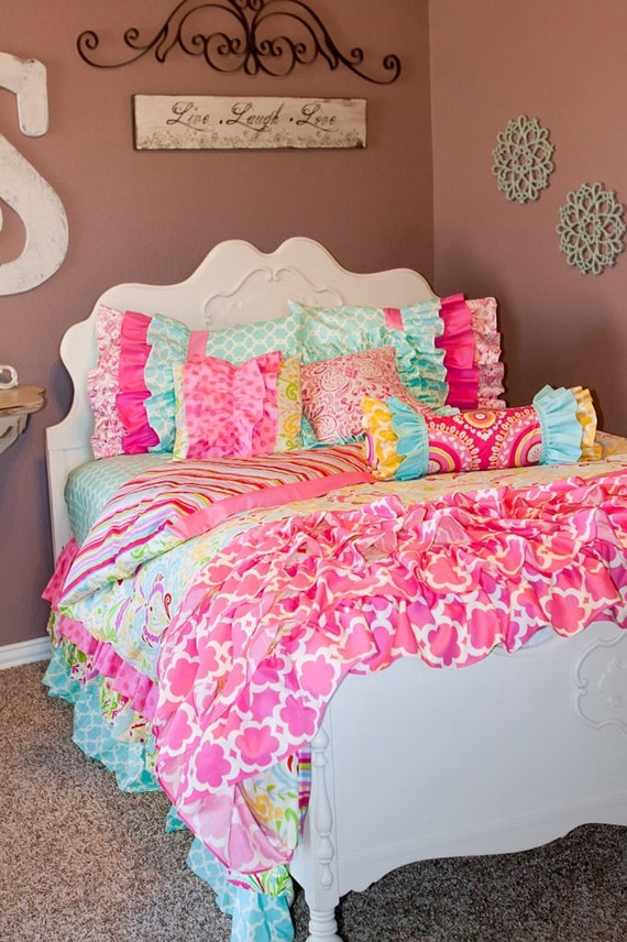 Items Similar To Custom Bedding Pink Kumari Garden On Etsy