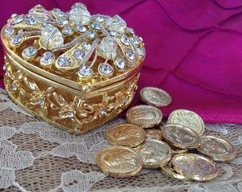 Gold plated wedding Arras / Arras De Matrimonio bañadas en Oro/ arraz/ unity coins/ 13 coins included