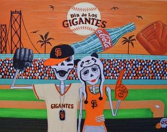 Dia de Los Gigantes - 8 x 10 print by Evangelina Portillo