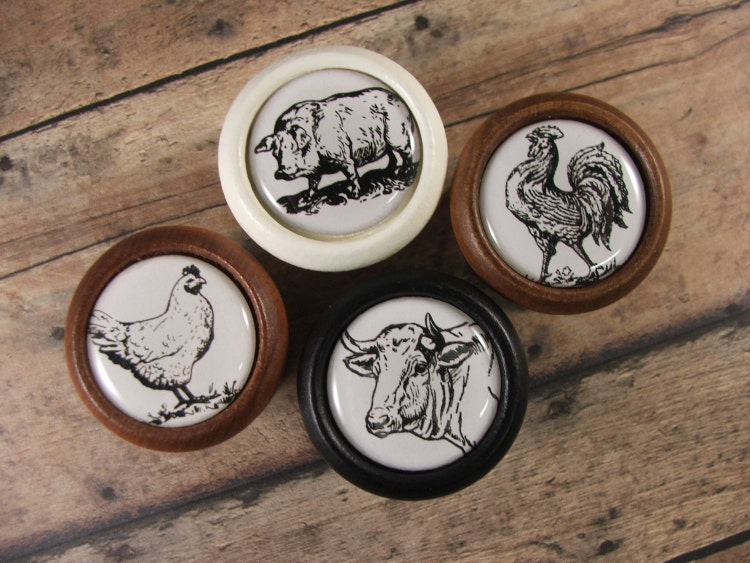 Down on the Farm...Cabinet Hardware Knobs by KnobTreasures ...