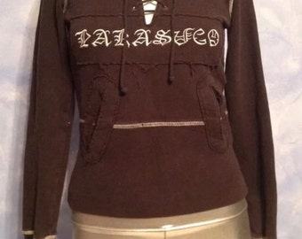 Vintage 1990s Parasuco brand lace front sweatshirt Size Small