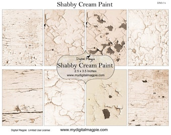 Cream ATC background printable digital collage sheet shabby chic textured paint instant download tag