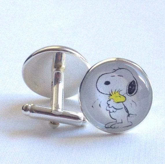 snoopy cufflinks silver cufflinks s jewelry by