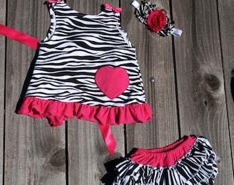 Pink and Black Zebra Print Swing Back