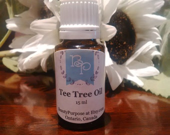Pure Tea Tree Oil for Acne Free Skin 15 ml / 0.5 oz